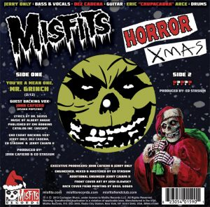 Horror Xmas 7-Inch Back Cover with A Side label visible through window cutout.