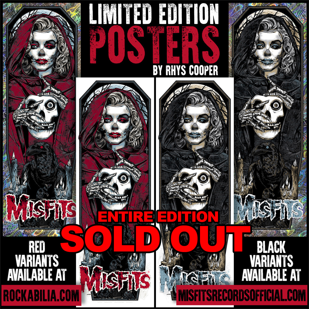 Misfits Unmasked Screenprint 2016
