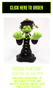 Hopping Ghosts Green Vinyl Figure by Osaka Popstar