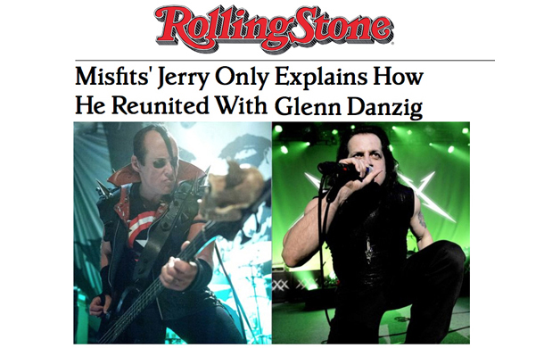 Misfits Reunion Interview in Rolling Stone